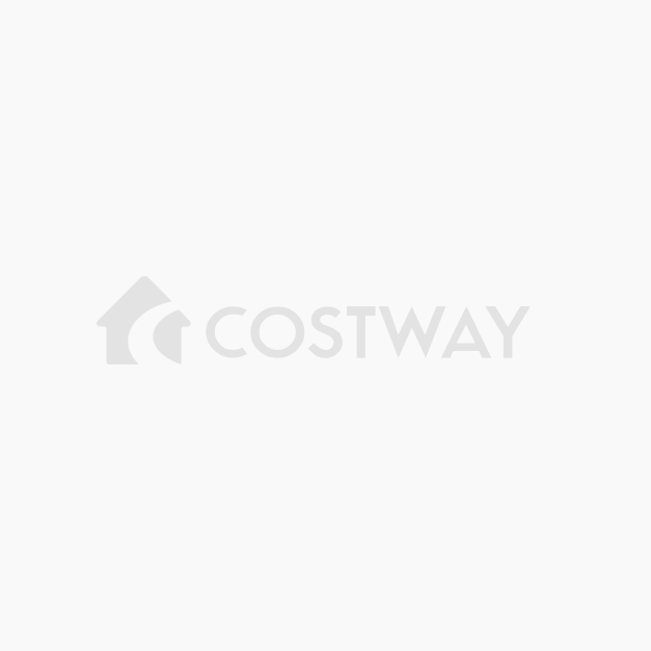 Costway Tavolino Porta PC regolabile in legno con ruote Tavolo ...
