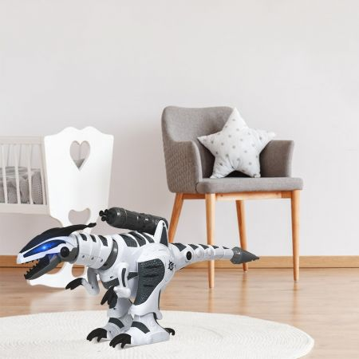 Costway Dinosauro robot giocattolo interattivo con telecomando, programmi indipendenti per bambini più di 3 anni