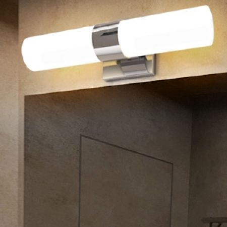 Costway Lampada del bagno 42 cm, Luce montato a muro sopra lo specchio