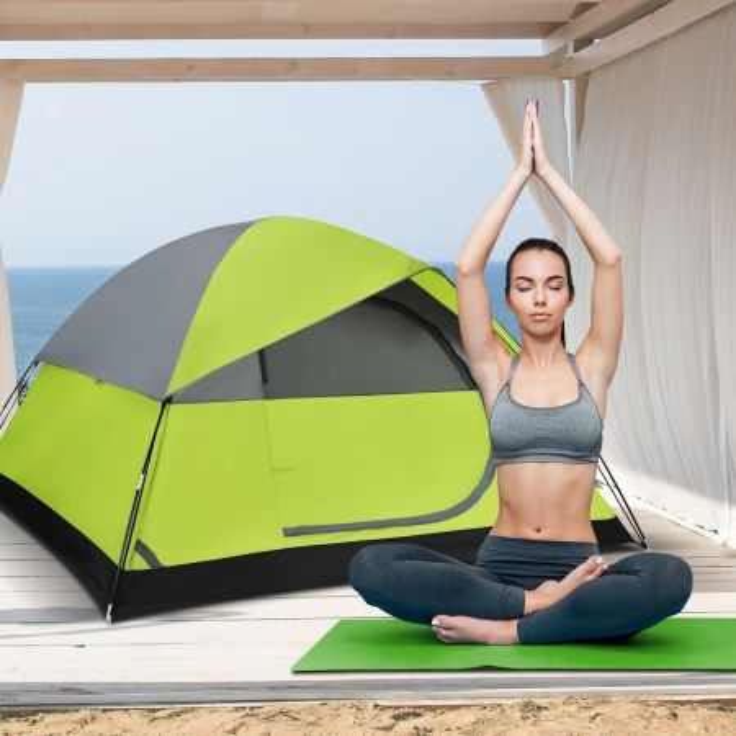 tenda da campeggio per 2 persone con telo antipioggia rimovibile