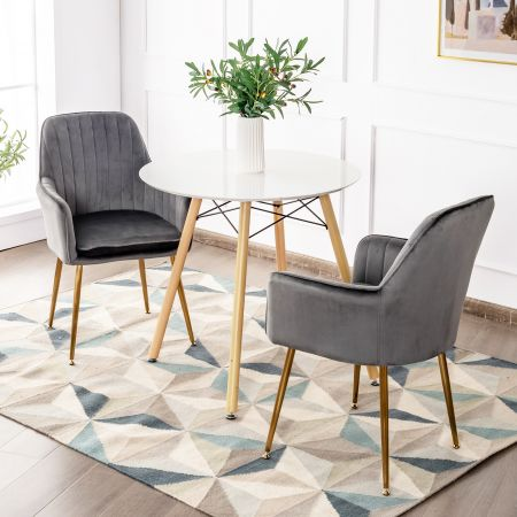 set di 2 sedie moderna comoda con sedile in spugna spessa