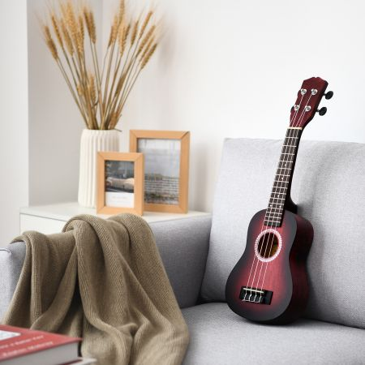 kit ukulele di legno 53cm per principianti