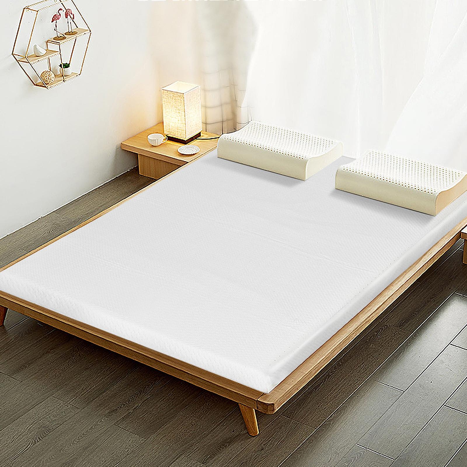 Costway Topper materasso matrimoniale per dormire comodi Cuscinetto per materasso con fodera rimovibile 140x200x5cm