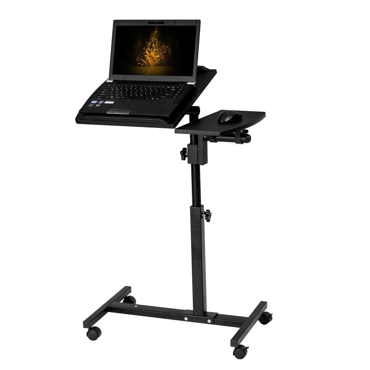 COSTWAY Tavolino per Computer PC Porta Laptop in bamb/ù Pieghevole Inclinabile 56 x 35,5 x 29 cm Desk per Colazione a Letto