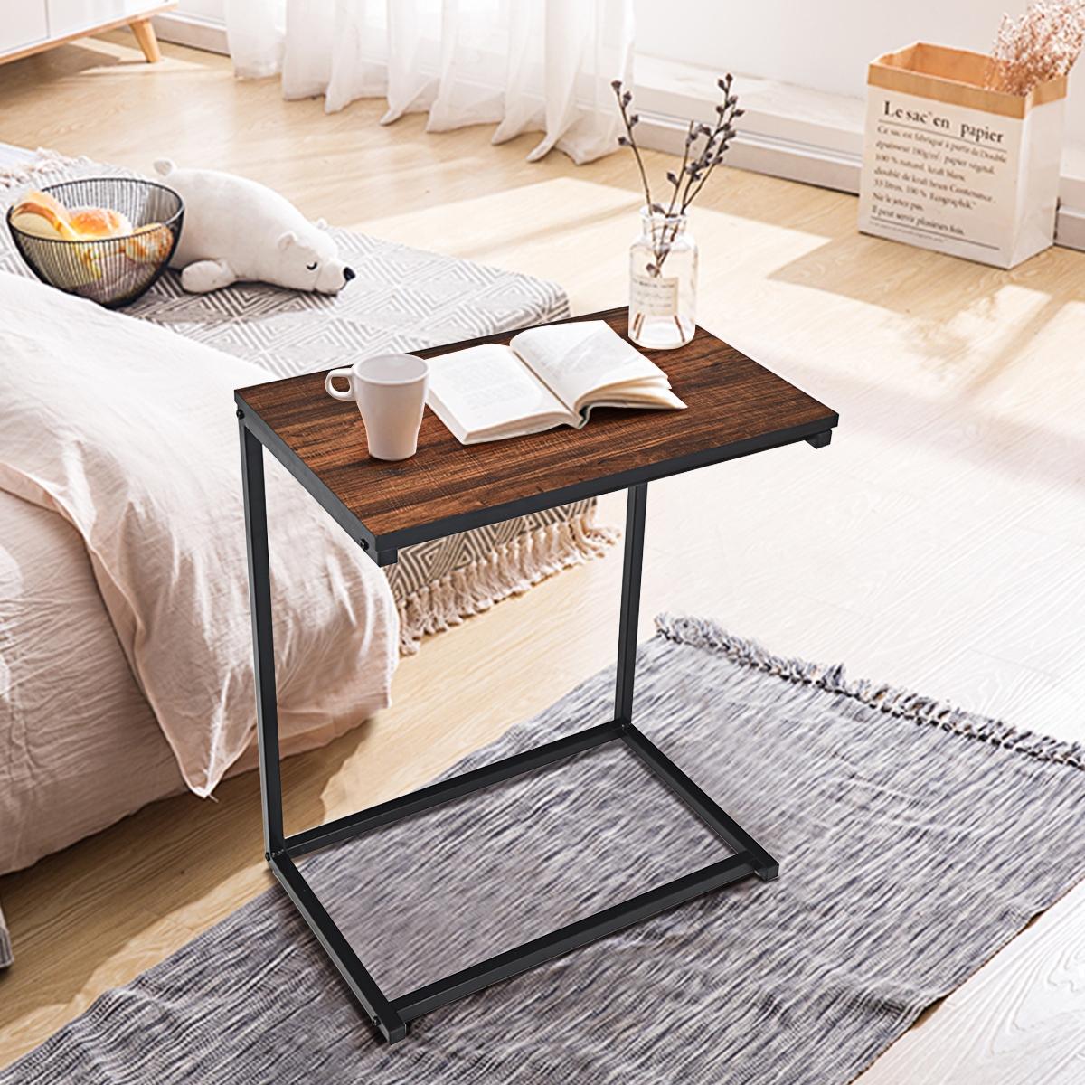 Costway Tavolino porta PC laptop multiplo in legno Tavolino da caffè 65x55x35cm