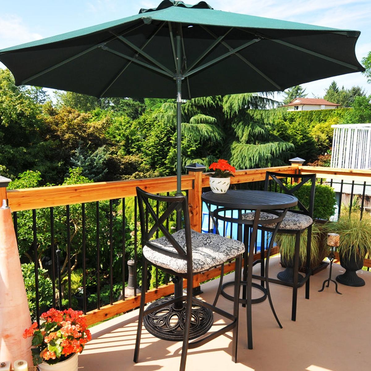 Costway Base per ombrellone per cortile Supporto resistente per ombrellone in ghisa per interno ed esterno