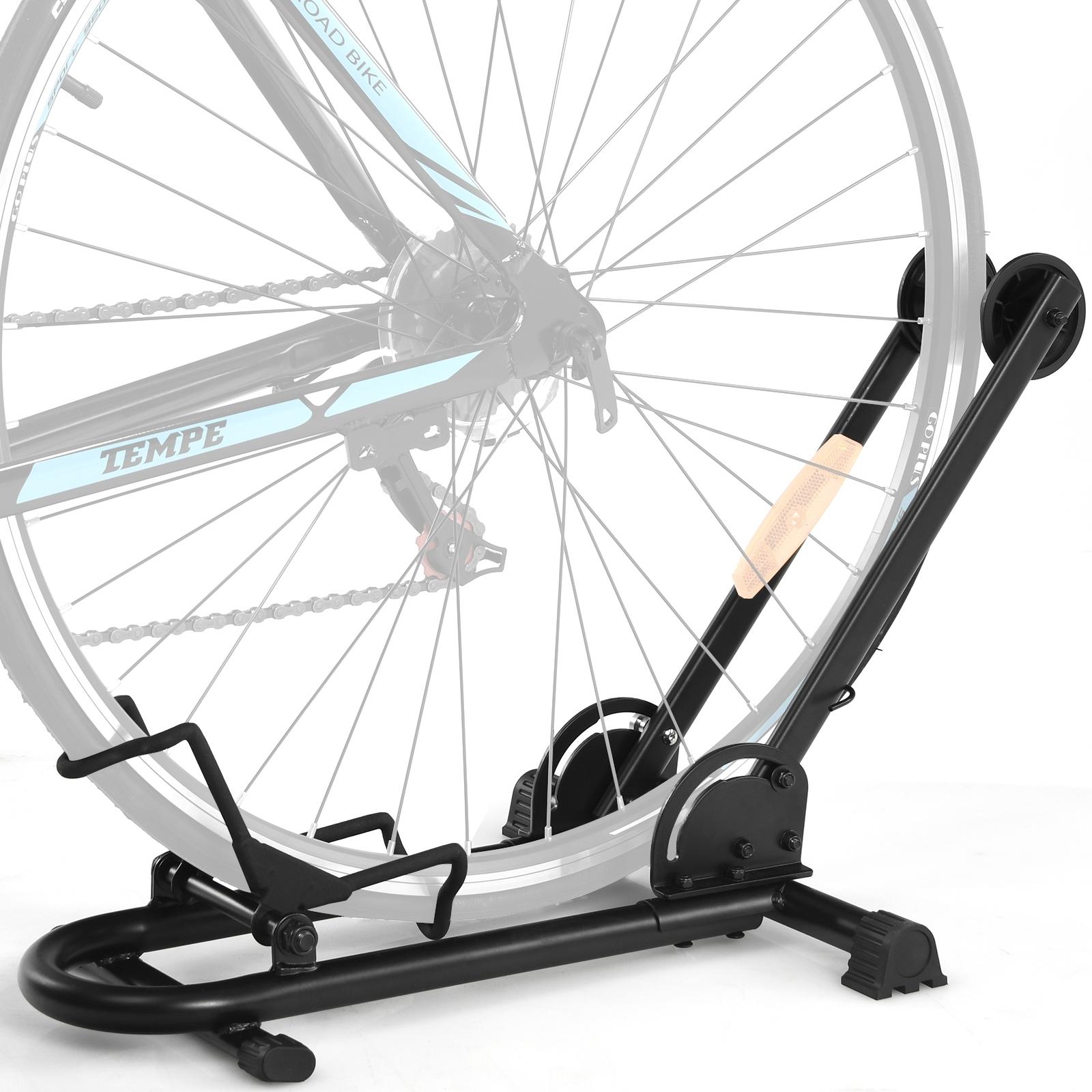 """Costway Supporto pieghevole in acciaio per bicicletta Cavalletto per bicicletta 20-29"""" Nero"""